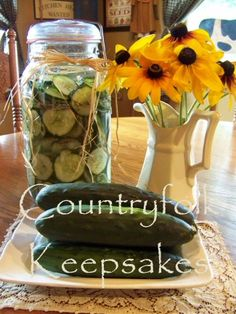 Refrigerator Sweet Pickles Recipe
