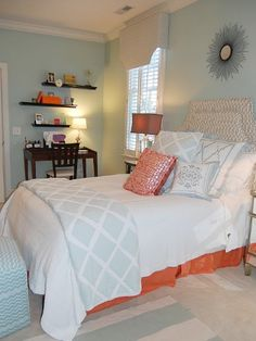 Aqua and Orange Color Palette - Home Color Ideas - Good Housekeeping