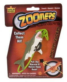 Shark Zoomers with Ripcord at theBIGzoo.com, a family-owned toy store.