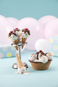 Ice Cream Cake Pops by Miss CandiQuik