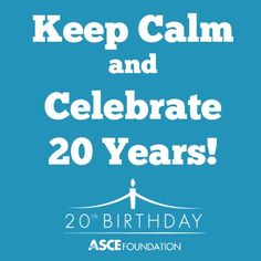 Keep Calm folks, the Foundation is celebrating 20 years of #philanthropy all year!