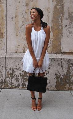 This is cute!! :)  #white #black #shoes #blackandwhite #brown #tan #summer #spring #bag #purse