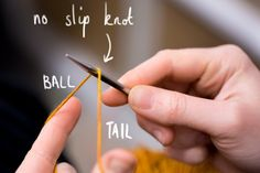 Tip for binding off a long tail cast on.
