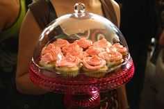 Cupcake Dome with lovely party cupcakes...