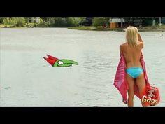 Stranded Sexy Topless Bikini Girl Shark Attack Prank