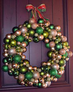 Green & Gold Ornament Wreath from Tutto Bella.