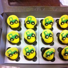 John Deere cup cakes