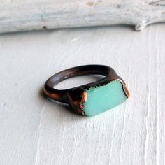 copper and raw gemstones   http://www.etsy.com/shop/MidwestAlchemy?ref=seller_info
