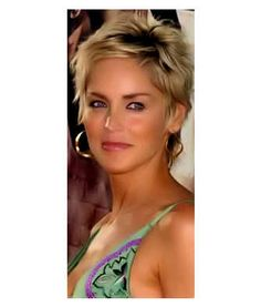 Sharon Stone with funky messy style.