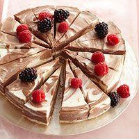 No-Bake Chocolate-Swirl Cheesecake  Recipe