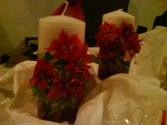 xmas candle with sospenso technque.