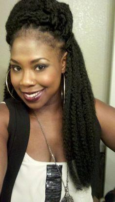 Crochet Braids with Marley Hair | My Pretty Brown Blog