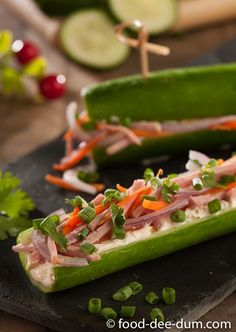 Ham & Cheese Cucumbe