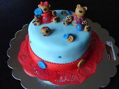 twin, shower cake, parti cake
