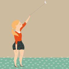 la luna al guinzaglio - Valentina S.digital artworks