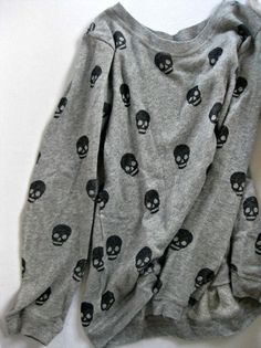 Scattered skull top  Cute top with dark pants or tight (a favourite gothic punk clothes repin of VIP Fashion Australia )