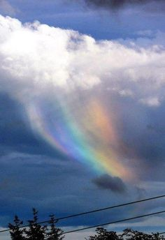 Rare Fire Rainbow:  Moray, Scotland