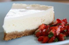 Classic Cheesecake with Sour Cream Topping (use almonds instead of digestive biscuits)