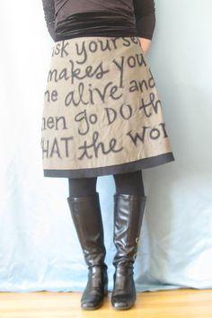 make it..... text skirt