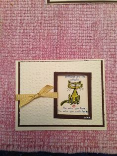 Birthday card - using Giggle Greetings stamp set from Stampin Up.