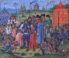 Marriage of Isabelle and King Richard II of England,1396 by Jean Froissart