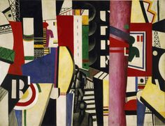 Fernand Leger - The City (1919)  Art Experience NYC  www.artexperiencenyc.com/social_login/?utm_source=pinterest_medium=pins_content=pinterest_pins_campaign=pinterest_initial