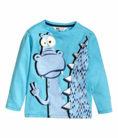 H&M T-shirt à manches longues turquoise 5,95$