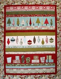 Holiday LIne Up  Quilt Pattern from Crazy Old Ladies at KayeWood.com. http://www.kayewood.com/item/Holiday_LIne_Up_Quilt_Pattern/2885 $9.00