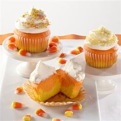 fall treat is recreated as a cupcake! Halloween Desserts, Desserts ...