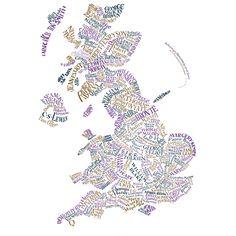 Literary map of Britain.