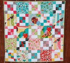 Moda Bake Shop: It's a Hoot Baby Quilt #modabakeshop #modafabrics #lovepinwin