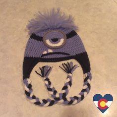 Crochet Despicable Me evil purple minion hat