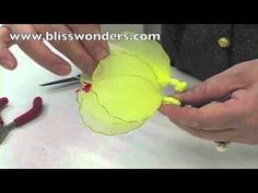 nylon craft, nylon floversbutterfli, flower tutorial, flower 06, nylon flower