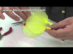 How To Make Nylon Flowers 06 (Hibiscus) blisswonders.com