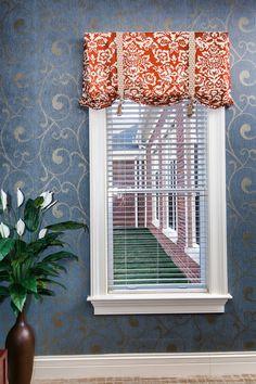 Custom Roman shades #windowtreatments