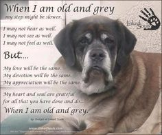 When I am old and grey...(need to click on photo to read words