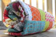 Our Busy Little Bunch: a Rolie Polie quilt . . .