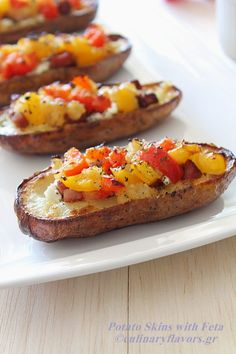 Greek-style Potato Skins with Feta Cheese and Sausage. Let Uniglobe ...