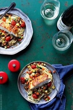 Halibut Ratatouille - A low-cal, lite-bites summer dish!