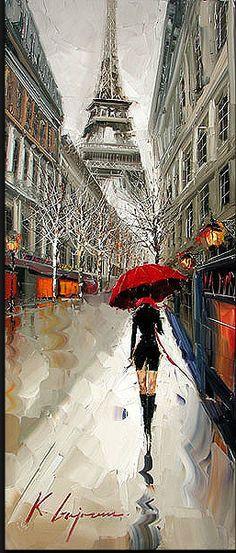 paris, oil paintings, tower, art paintings, luxury travel
