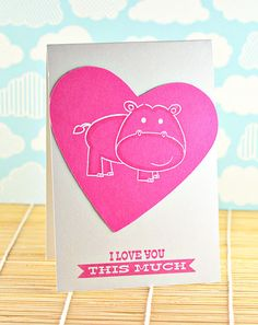 By Chunyuan Wu using Hipster-Potamus and Lots of Love stamp sets for www.averyelle.com