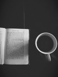 coffee and book
