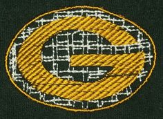 Green Bay Packers Inspired Embroidered Mittens - Size Medium.