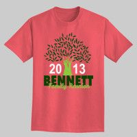 Cute family reunion tee - love this custom design. This website let's you edit designs like this that are already created. Customize your own family reunion t-shirt!
