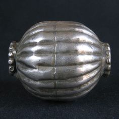 Old COLLARED SILVER bead. YEMEN