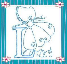 Sunbonnet Alphabet alfabeto, kiwi, sunbonnet sue, bordado, alphabet, letrass, abecedario, embroidery, embroideri