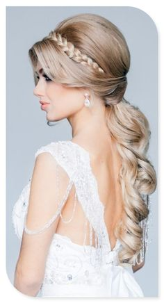 or with a side ponytail instead of one straight back