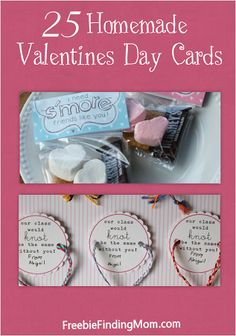 25 homemade Valentine's Day cards! These are adorable! #homemadeValentinesDaycards #ValentinesDay