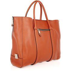 weekend bag, chloémadelein leather, handbag closet, madelein orang, fashion styles, leather totenetaportercom, chloe tote, chloé madelein, tote bags