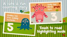 FREE app (reg 2.99) Cutie Mini Monsters is a simple app designed specifically for the development needs of toddlers, simple jigsaw puzzles along with an interactive counting book will help children who are learning to count.